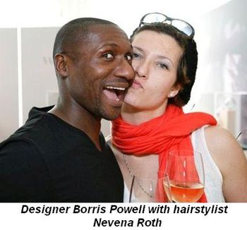 Blog 3 - Designer Borris Powell with hairstylist Nevena Roth