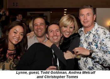 Blog 9 - Lynne, guest, Todd Goldman, Andrea Metcalf and Christopher Tomes
