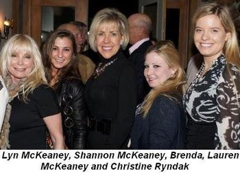 Blog 4 - Lyn McKeaney (2nd from L), Shannon McKeaney, Brenda, Lauren McKeaney and Christine Ryndak