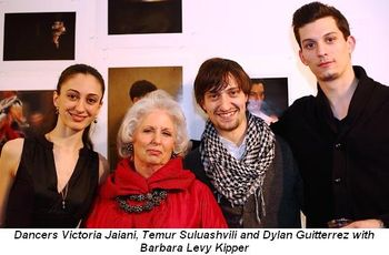 Blog 6 - Dancers Victoria Jaiani, Temur Suluashvili and Dylan Guiterrez with Barbara Kipper