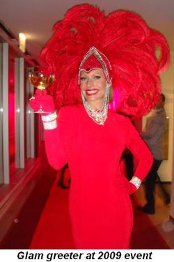 Blog 2 - Glam greeter at 2009 event