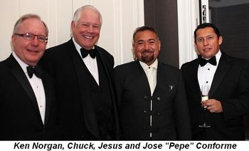 "Blog 12 - Ken Norgan, co-chair Chuck, Jesus and Jose ""Pepe"" Conforme"