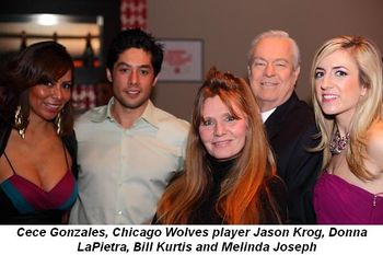Blog 1 - Cece Gonzales, Chicago Wolves Jason Krog, Donna LaPietra, Bill Kurtis and Melinda Joseph