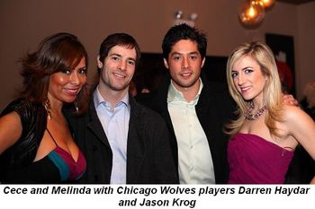 Blog 3 - Cece and Melinda with Chicago Wolves players Darren Haydar and Jason Krog