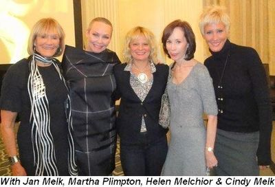 Blog 2 - With Jan Melk, Martha Plimpton, Helen Melchior and Cindy Melk