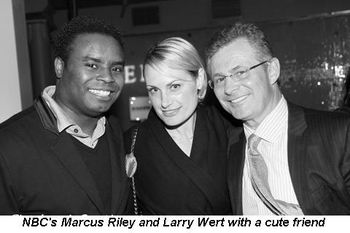Blog 9 - NBC's Marcus Riley and Larry Wert with cute friend