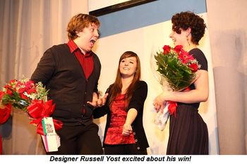 Designer Russell Yost excited about his win!