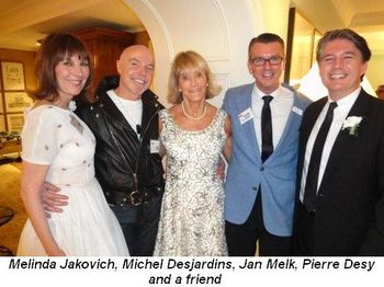 Blog 1 - Melinda Jakovich, Michel Desjardins, Jan Melk, Pierre Desy and friend