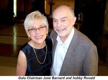 Blog 2 - Gala Chairman June Barnard and hubby Ronald