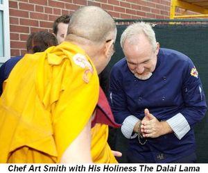 Blog 1 - Chef Art with His Holiness The Dalai Lama