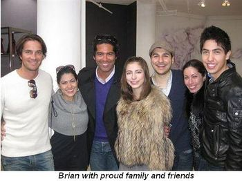 Brian with proud family and friends