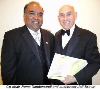 Blog 6 - Co-chair Rama Dandamudi and auctioneer Jeff Brown