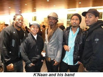 Blog 16 - K'Naan and his band