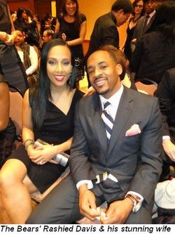Blog 5 - Chicago Bear Rashied Davis and his stunning wife