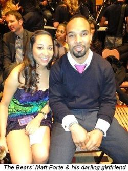 Blog 7 - Chicago Bear Matt Forte and his darling friend