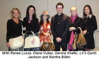 Blog 2 - With Renee Lucas, Diane Vukas, Genine Shafer, LV's Garth Jackson and Martha Billen
