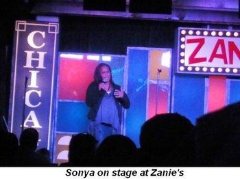 Blog 1 - Sonya onstage at Zanie's