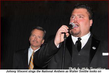 Blog 11 - Johnny Vincent sings the National Anthem