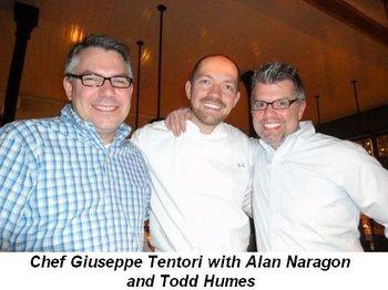 Blog 2 - Chef Giuseppe Tentori with Alan Naragon and Todd Humes