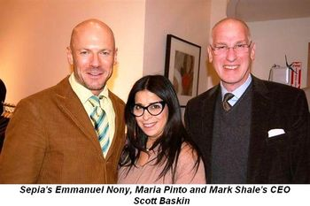 Blog 2 - Sepia's Emmanuel Nony, Maria Pinto and Mark Shale's CEO Scott Baskin