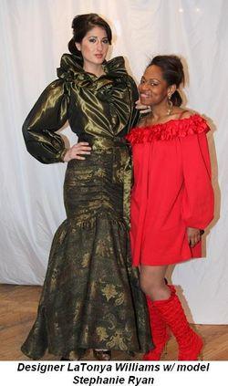 Blog 3 - Designer LaTonya Williams with model Stephanie Ryan