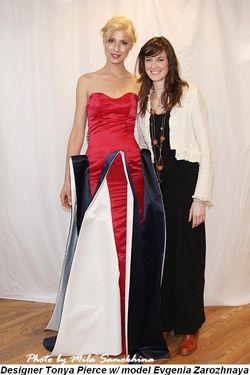 Blog 3 - Designer Tonya Pierce with model Evgenia Zarozhnaya