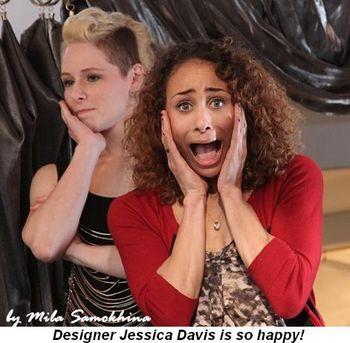 Blog 5 - Designer Jessica Davis is so happy!