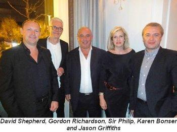 Blog 2 - David Shepherd, Gordon Richardson, Sir Philip, Karen Bonser and Jason Griffiths