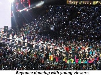 Blog 14 - Beyonce dancing with young viewers