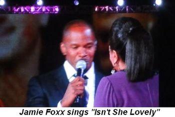 Blog 21 - Jamie Foxx sings Isn't She Lovely