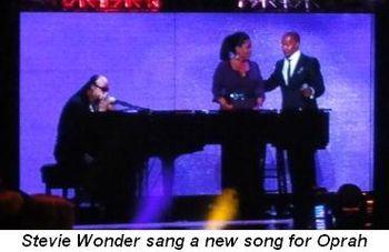 Blog 22 - Stevie Wonder sang a new song for Oprah