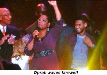 Blog 36 - Oprah waves farewell