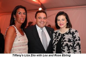 Tiffany's Liza Zito with Lou and Rosa Ebling