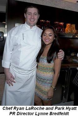 Blog 1 - Chef Ryan LaRoche and Park Hyatt PR Director Lynne Bredfeldt
