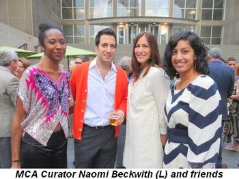 Blog 1 - MCA Curator Naomi Beckwith (L) and friends