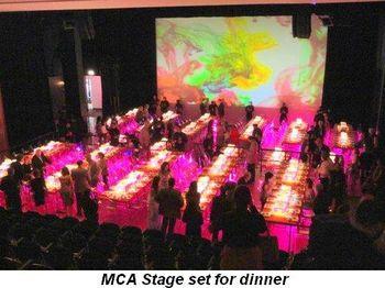 Blog 12 - MCA Stage set for dinner
