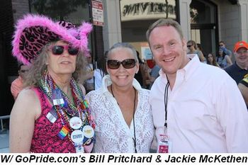 Blog 4 - With GoPride.com's  Bill Pritchard and Jackie McKethen