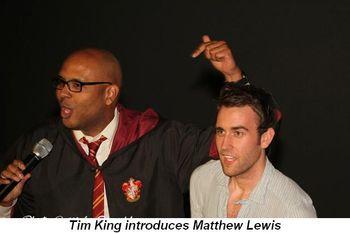Blog 2 - Tim King introduces Matthew Lewis
