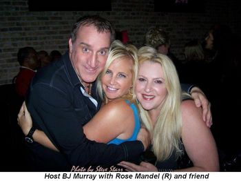 Blog 4 - Host BJ Murray with Rose Mandel (R) and friend