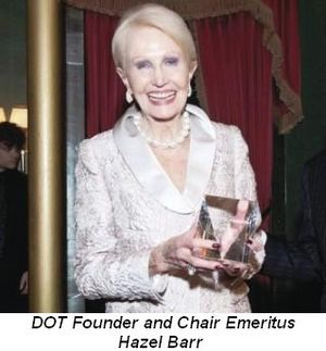 Blog 2 - DOT Founder and Chair Emeritus Hazel Barr