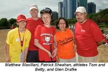 Blog 1 - Matthew Masillani, Patrick Sheahan, athletes Tom and Betty, Glen Drafke