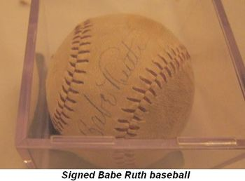 Blog 4 - Signed Babe Ruth baseball