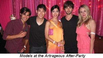 Blog 19 - Models at the Artrageous After-Party
