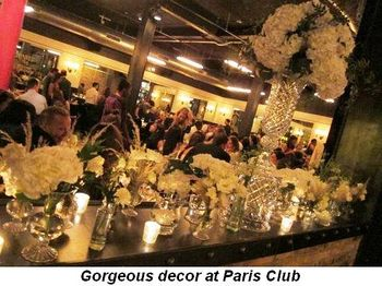 Blog 5 - Gorgeous décor at Paris Club