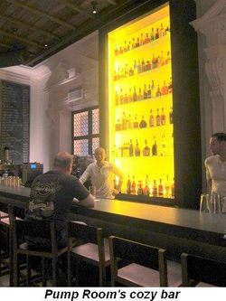 Blog 6 - Pump Room's cozy bar