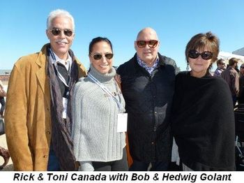 Blog 12 - Rick and Toni Canada with Hedwig and Bob Golant