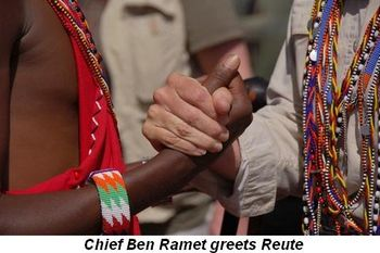 Blog 6 - Chief Ben Ramet greets Reute