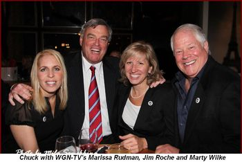 Blog 8 - WGN-TV's Marissa Rudman, Jim Roche, Marty Wilke and Chuck
