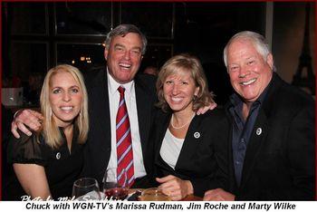 Blog 8 - WGN-TV's Marissa Rudman, Jim Roche, Marty Wilke and Chuck