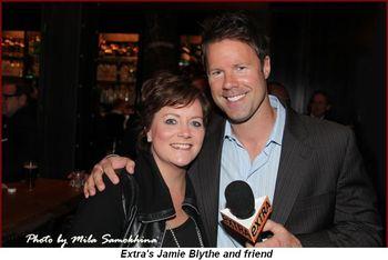 Blog - Extra's Jamie Blythe and friend